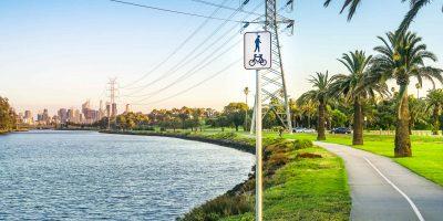 View,Of,Riverside,Pedestrian,Footpath/bike,Trails,In,Footscray,Park,Along